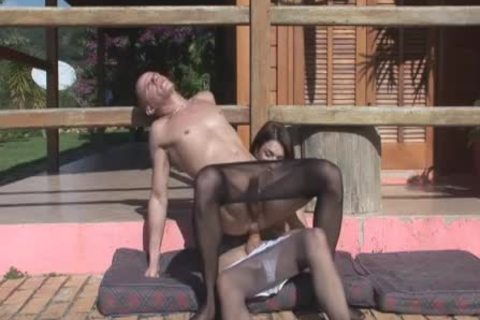 Adriana drills Sissy lad In stockings