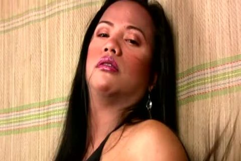 Filipino Dream T-beauty Is Petting Her Curvy Body And Shecock